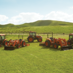 kioti tractor family showing various grades of tractors available